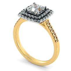 HRPSD826 Princess Halo Diamond Ring - yellow