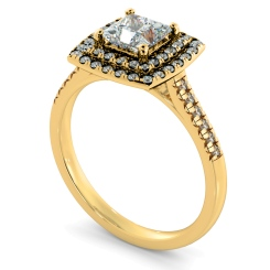 HRPSD826 Princess Halo Diamond Ring - yellow