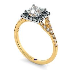 HRPSD827 Princess Halo Diamond Ring - yellow