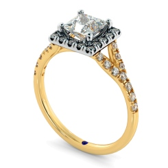 HRPSD827 Princess Halo Diamond Ring - yellow