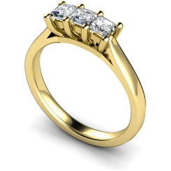 HRPTR131 3 Princess Diamonds Trilogy Ring - yellow