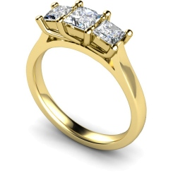 HRPTR133 Princess 3 Stone Diamond Ring - yellow