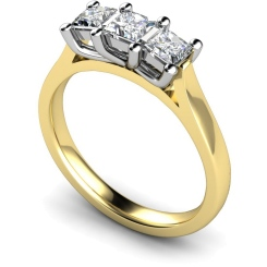 HRPTR139 Princess 3 Stone Diamond Ring - yellow