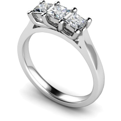 HRPTR139 Princess 3 Stone Diamond Ring - white