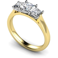 HRPTR151 Princess 3 Stone Diamond Ring - yellow