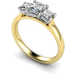 HRPTR155 Princess 3 Stone Diamond Ring - yellow