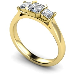 HRPTR156 Princess 3 Stone Diamond Ring - yellow