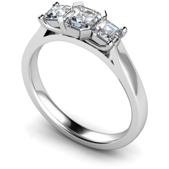 HRPTR156 Princess 3 Stone Diamond Ring - white