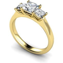 HRPTR163 Princess 3 Stone Diamond Ring - yellow
