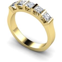 HRPTR210 Princess 5 Stone Diamond Ring - yellow