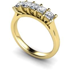 HRPTR214 Princess 5 Stone Diamond Ring - yellow