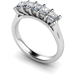 HRPTR214 Princess 5 Stone Diamond Ring - white