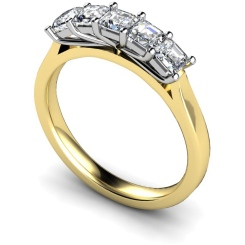 HRPTR218 Princess 5 Stone Diamond Ring - yellow
