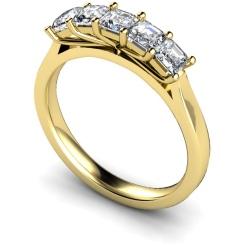HRPTR218 Princess 5 Stone Diamond Ring - yellow