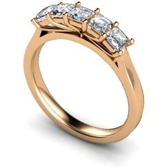 HRPTR218 Princess 5 Stone Diamond Ring - rose