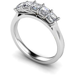 HRPTR218 Princess 5 Stone Diamond Ring - white