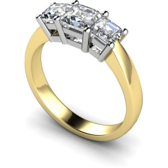HRPTR89 Princess 3 Stone Diamond Ring - yellow