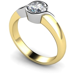 HRR270 Round Solitaire Diamond Ring - yellow
