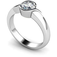 HRR270 Round Solitaire Diamond Ring - white