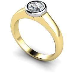 HRR271 Round Solitaire Diamond Ring - yellow