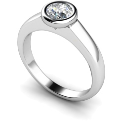 HRR271 Round Solitaire Diamond Ring - white