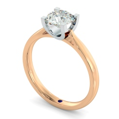 HRR273 High Setting Round cut Solitaire Diamond Ring - rose