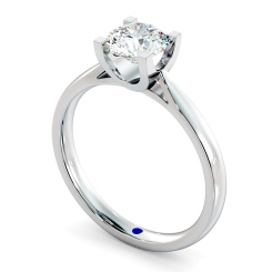 HRR273 High Setting Round cut Solitaire Diamond Ring - white