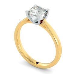HRR273 High Setting Round cut Solitaire Diamond Ring - yellow