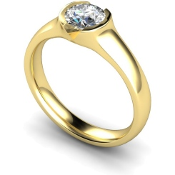 HRR301 Round Solitaire Diamond Ring - yellow