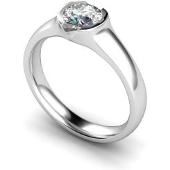 HRR301 Round Solitaire Diamond Ring - white