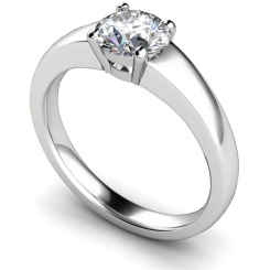 HRR305 Square Setting Brilliant Cut Solitaire Diamond Ring - white