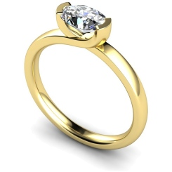 HRO315 Oval Solitaire Diamond Ring - yellow