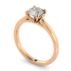 HRR327 Round Solitaire Diamond Ring - rose