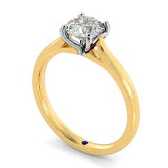 HRR327 Round Solitaire Diamond Ring - yellow