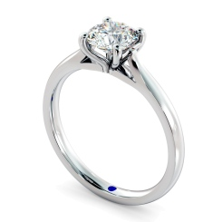 HRR327 Round Solitaire Diamond Ring - white