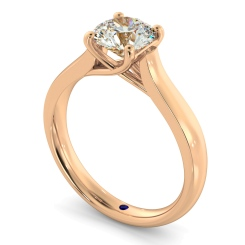 HRR329 4 Prong Round cut Solitaire Diamond Ring - rose