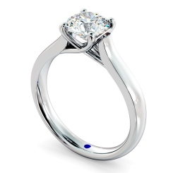 HRR329 4 Prong Round cut Solitaire Diamond Ring - white