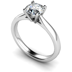 HRR354 4 Prong Round cut Solitaire Diamond Ring - white