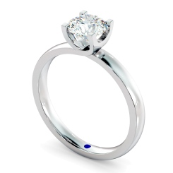 HRR386 Crossover Setting Round Cut Solitaire Diamond Ring - white