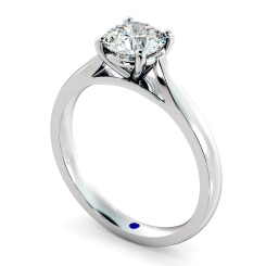 HRR403 Round Solitaire Diamond Ring - white