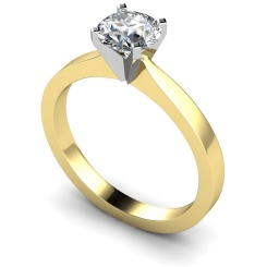 HRR418 Round Solitaire Diamond Ring - yellow