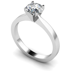 HRR418 Round Solitaire Diamond Ring - white