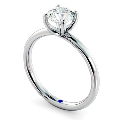 HRR556 Crossover Set Round cut Solitaire Diamond Ring - white