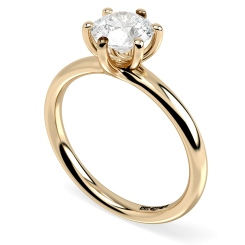 HRR577 Round Solitaire Diamond Ring - rose
