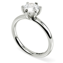HRR577 Round Solitaire Diamond Ring - white