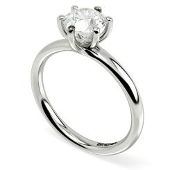 HRR577 Round Solitaire Diamond Ring - white