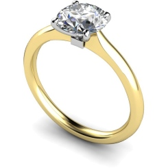 HRR591 Round Solitaire Diamond Ring - yellow