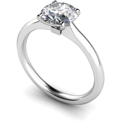 HRR591 Round Solitaire Diamond Ring - white