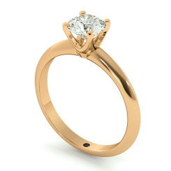 HRR729 Round cut Classic Knife Edge Diamond Engagement Ring - rose