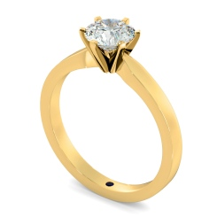 HRR792 Round cut 6 Modern Claws Diamond Engagement Ring - yellow